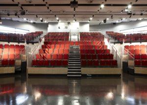 school auditorium waveform panels